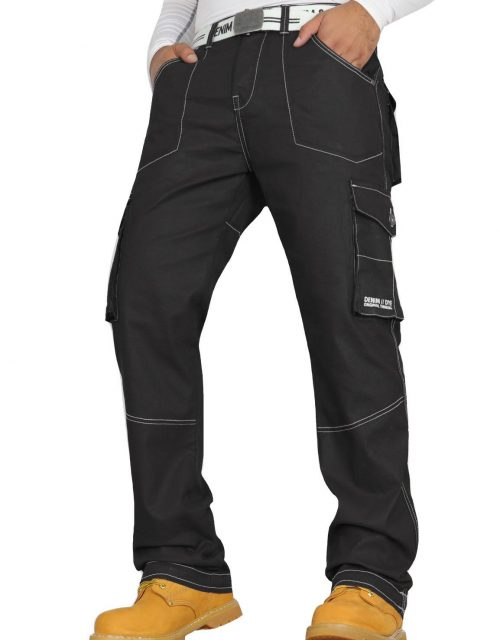 Denim & Dye Banks Black Combat Jeans by Jeanbase