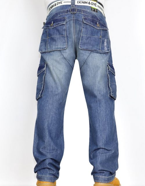 Denim & Dye Banks Mid-Wash Combat Jeans by Jeanbase