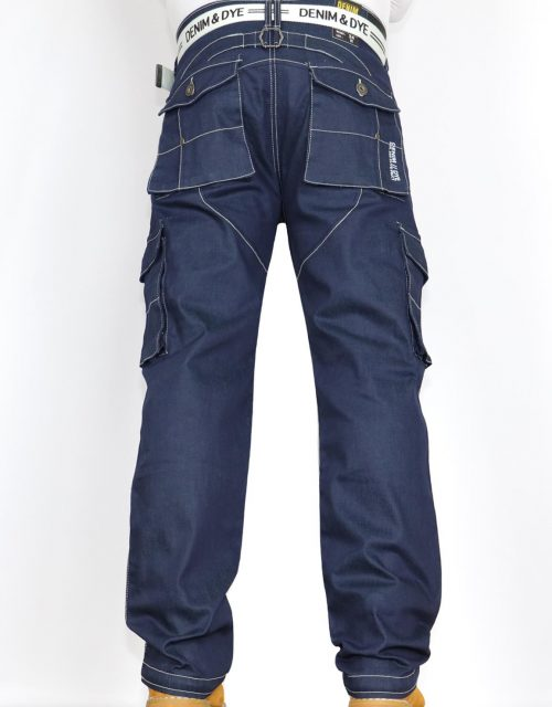 Denim & Dye Banks Blue Combat Jeans by Jeanbase