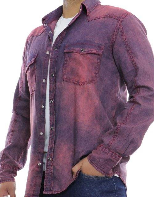 Denim Shirt Red by Jeanbase